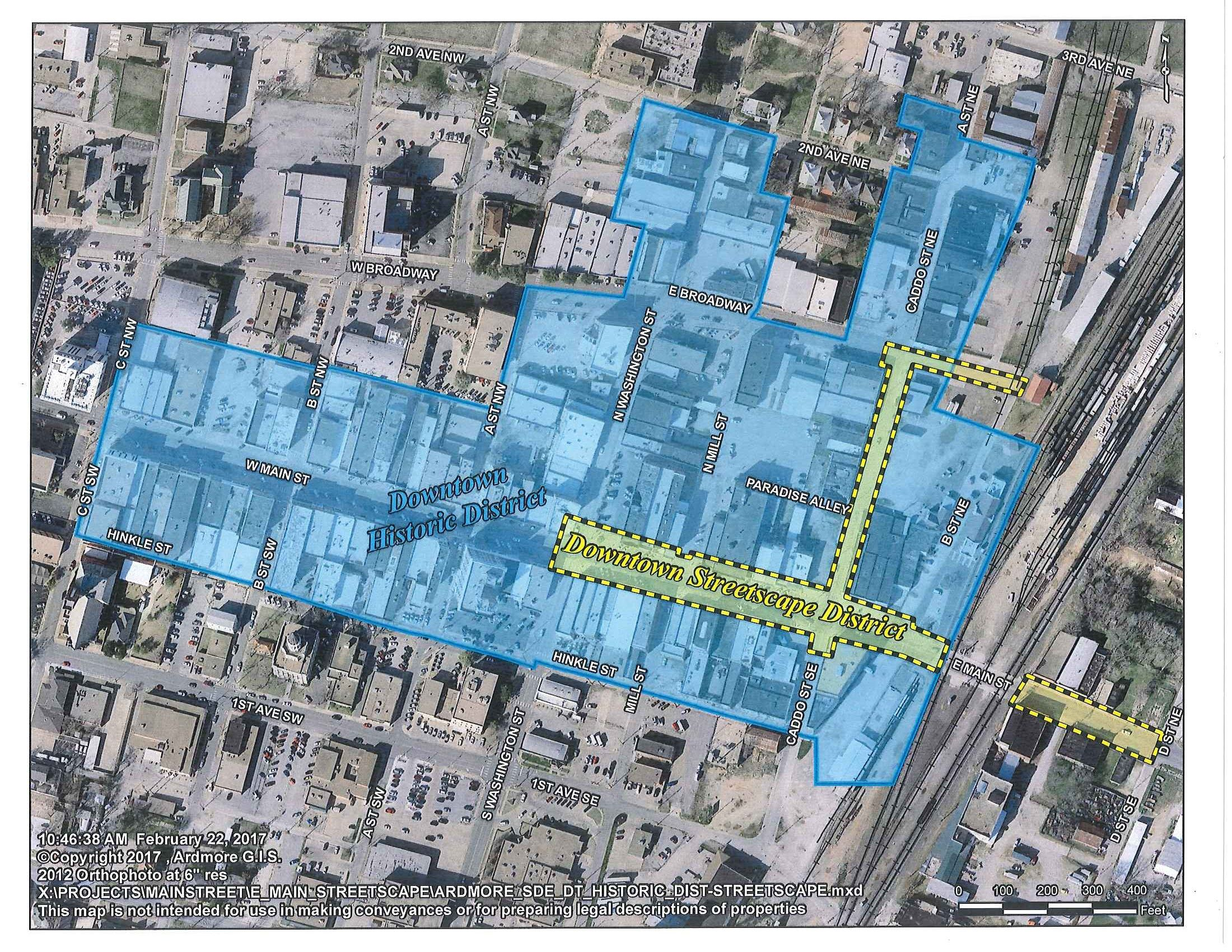 Ardmore Facade Grant Program Map2