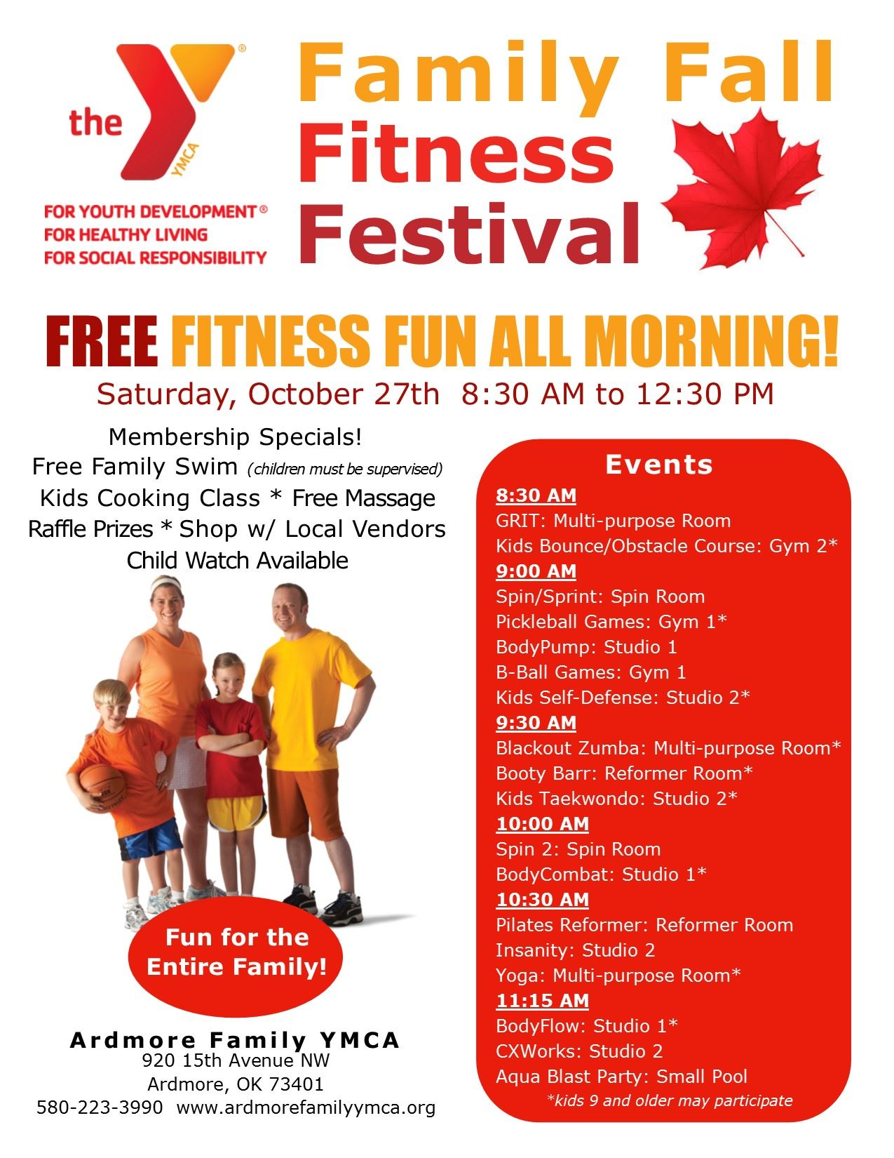 Flyer - Fall Fitness Festival Final