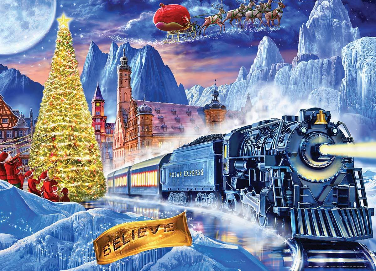 animated picture polar express train